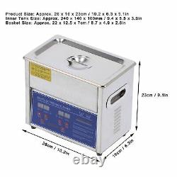 3L Digital Ultrasonic Cleaner Stainless Ultrasound Timer Heater Tank With Basket