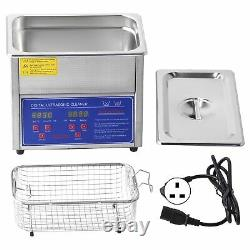 3L Digital Ultrasonic Cleaner Timer Heater Professional 304 Stainless Steel