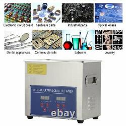 3L Ultrasonic Cleaner Stainless Jewellery Coin Cleaning Machine Basket Timer UK