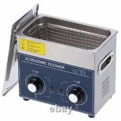 3L Ultrasonic Cleaner Stainless Steel Digital Bath Heater Timer Knob Type CE