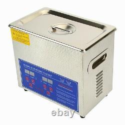3L Ultrasonic Cleaner Stainless Steel Digital Bath Heater Timer Ultra Sonic UK