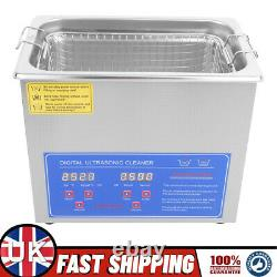 3L Ultrasonic Digital Ultra Sonic Cleaner Bath Timer Stainless Tank Cleaning UK