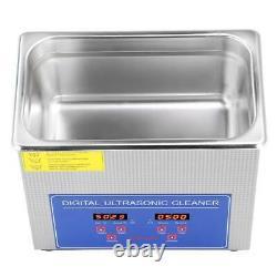 3l Digital Stainless Ultrasonic Cleaner Bath Timer Heate Basket 220v-240v Ce Fcc