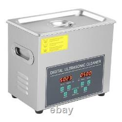 3l Double Frequency Digital Stainless Ultrasonic Cleaner Bath Tank Timer Heat