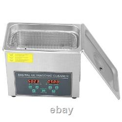 3l Double Frequency Stainless Steel Ultrasonic Cleaner Bath Tank Timer Hea