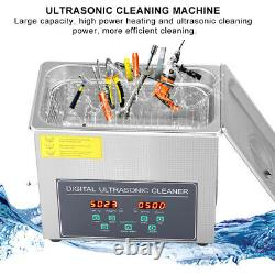 3l Stainless Ultrasonic Cleaner Ultra Sonic Bath Cleaning Tank Timer Heat