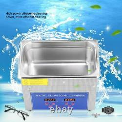 3l Strong Digital Stainless Cleaner Ultra Sonic Bath Cleaning Tank Timer Heate