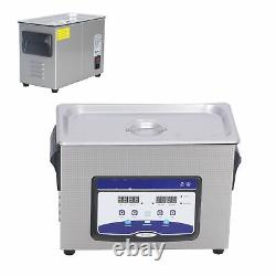 4.5L Household Ultrasonic Cleaner Stainless Steel Glasses Cleaning Machine US BY