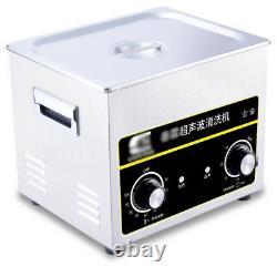 4.5L Ultrasonic Cleaner Machine Stainless Steel Heater Timer Dental 180W NEW
