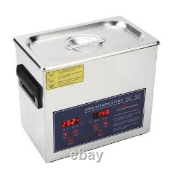 6.5L Digital Stainless Ultrasonic Cleaning Tank Ultra Sonic Timer Heated Cleaner