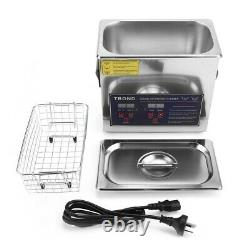 6.5L Digital Ultrasonic Cleaner Timer Heat Ultra Sonic Cleaning Stainless Tank