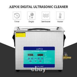 6.5L Stainless Ultrasonic Cleaner Ultra Sonic Bath Cleaning Timer Tank Heat