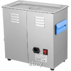 6.5L Ultrasonic Cleaner with Heater Timer Stainless Steel Water Drain Handle