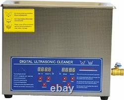 6L Dental Stainless Steel Ultrasonic Cleaner Cleaning Machine with Basket
