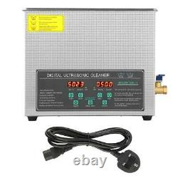 6L Digital Stainless Steel Ultrasonic Cleaner Double-frequency Cleaning New