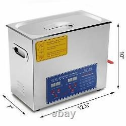 6L Digital Stainless Ultrasonic Cleaner Heater Sonic Cleaning Machine Baths Tank