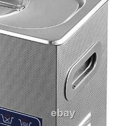 6L Digital Stainless Ultrasonic Cleaner Supplies Jewellery Bath Timer Watch 220V