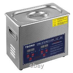 6L Digital Stainless Ultrasonic Cleaner Ultra Sonic Bath Tank Timer Heat Basket