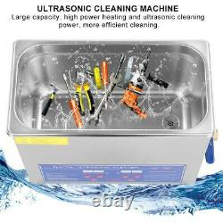 6L Digital Ultrasonic Cleaner Stainless Steel Cleaning Bath Tank Timer Heater CE