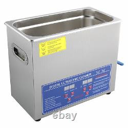 6L Digital Ultrasonic Cleaner Timer Heat Ultra Sonic Cleaning Stainless Tank UK