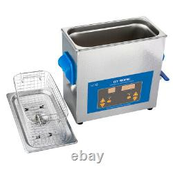 6L Digital Ultrasonic Cleaner Timer Stainless Steel Cotainer Cleaning Machine UK