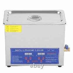 6L Digital Ultrasonic Cleaner Timer Stainless Ultra Sonic Cleaning Bath Tank CE
