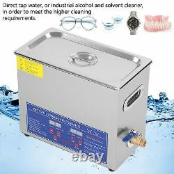 6L Digital Ultrasonic Cleaner Timer Stainless Ultra Sonic Cleaning Bath TankB