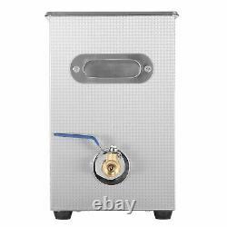 6L Digital Ultrasonic Cleaner Timer Stainless Ultra Sonic Cleaning Bath TankS