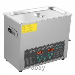 6L Double-frequency Digital Stainless Steel Ultrasonic Cleaner Machine Timer UK