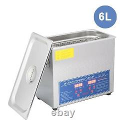 6L Professional Digital Ultrasonic Cleaner Timer 304 Stainless Steel Cotainer