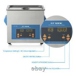 6L Stainless Steel Digital Ultrasonic Cleaner Ultra Sonic Bath Heater/Timer UK