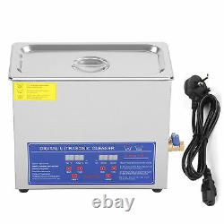 6L Stainless Steel Digital Ultrasonic Cleaner Ultra Sonic Tank Bath Heater Timer