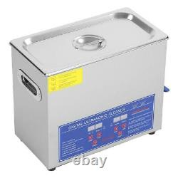 6L Stainless Steel Heated Ultrasonic Digital Cleaner Cleaning Tank Heater Timer