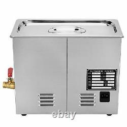 6L Stainless Steel Heated Ultrasonic Digital Cleaner Tank Heater wIth Timer