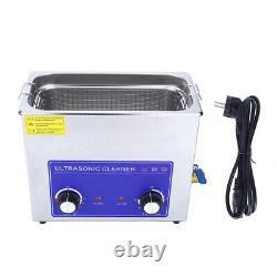 6L Stainless Steel Ultrasonic Cleaner Cleaning Tank Machine With Basket