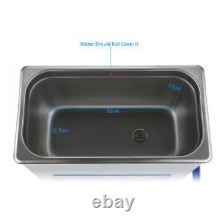 6L Stainless Ultrasonic Cleaner Digital Display Adjustable Ultra Sonic Cleaning