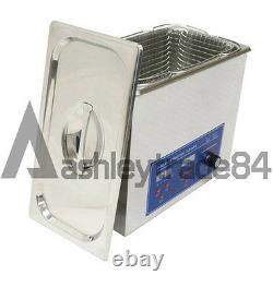 6L Stainless Ultrasonic Cleaner Machine Bath Tank Digital Timer Heated Cleaning