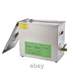 6l Liter Digital Stainless Ultrasonic Cleaner Ultra Sonic Bath Tank Timer Heater