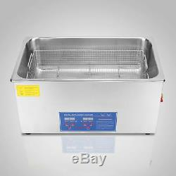 Best 30L Ultrasonic Cleaner Stainless Steel With Timer & Heater Digital Control