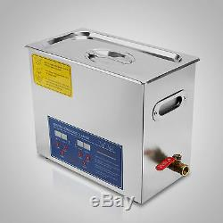 Best 6L Ultrasonic Cleaner Stainless Steel Industry Heated Heater withTimer+++