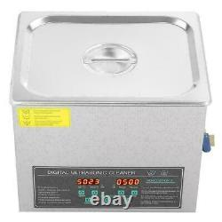 CE 10L Double-frequency Digital Stainless Steel Ultrasonic Cleaner Machine Timer