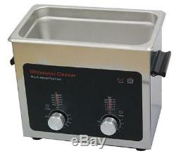 Cleaner Ultrasonic with Stainless Steel Tank, Heater/Timer, 3.0L/0.79Gallon Tank
