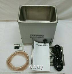 Cole-Parmer 08895-12 Ultrasonic Cleaner, Jewelry or Lab, Stainless Steel, 60 Min