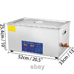 Commercial Ultrasonic Cleaner 22L Large Capacity Stainless Steel withTimer
