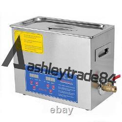 Digital 6.5L Dental Jewelry Stainless Ultrasonic Cleaner heater timer 110/220v