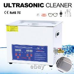 Digital Heated Stainless Cleaning Machine Ultrasonic 10L Cleaner Bath Tank UK