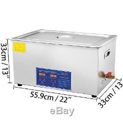 Digital Stainless Steel 30 L Ultrasonic Ultra Cleaner Bath Tank Timer & Heater