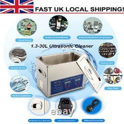 Digital Stainless Steel Ultrasonic Cleaner Ultra Sonic Bath Wash Timer Heater