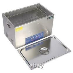 Digital Stainless Ultrasonic Cleaner Bath Tank Timer Heater 30L Basket CE FCC