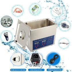 Digital Stainless Ultrasonic Cleaner Ultra Sonic Bath Cleaner Tank Timer Heate